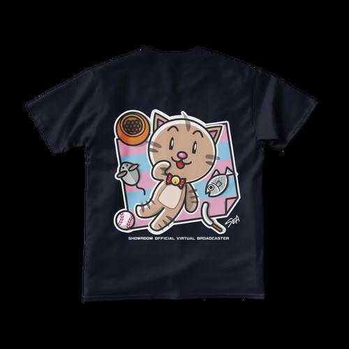 <ネイビーTシャツ 背面>レジャーみーちゃん