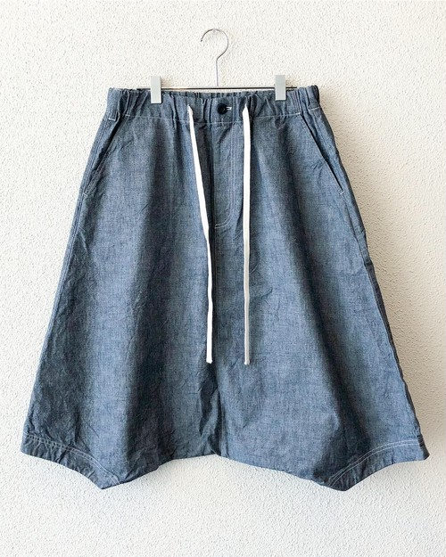"【18058】SAROUEL CROPPED PANTS ""CHAMBRAY"""