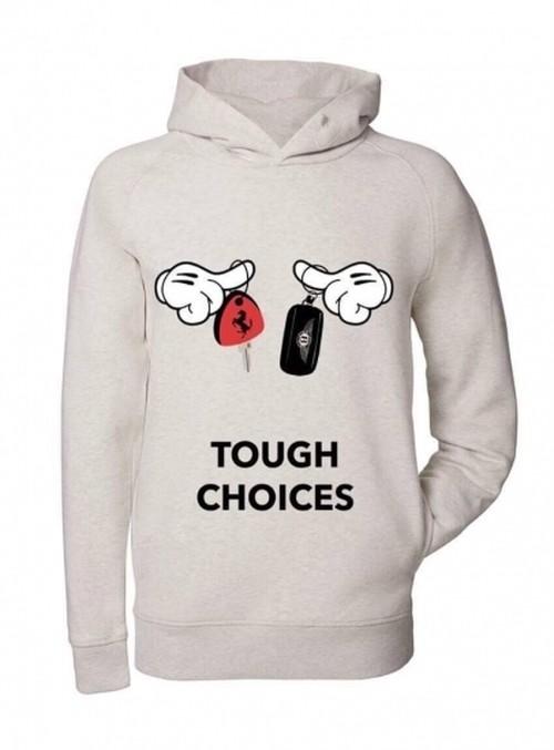Trendy & Rare (トレンディ&レア) Hooded Sweatshirt Tough choices CREAM