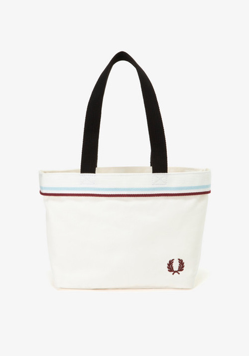 TWIN TIPPED SMALL TOTE BAG WHITE