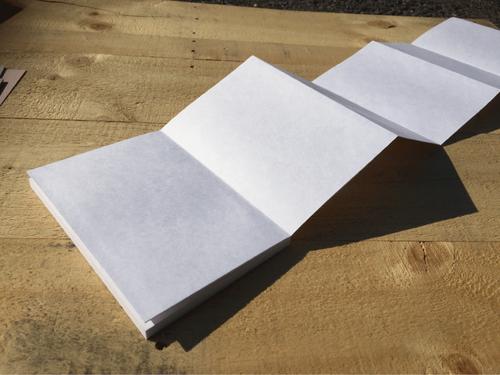 【ベテランセット・大サイズしろ】自分でつくる御朱印帳 本文、ボール紙、上質紙、表箋のみ