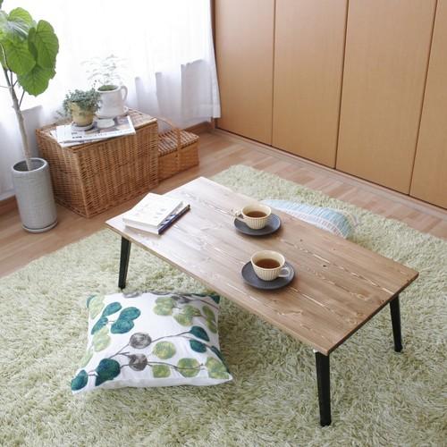 無垢材の折りたたみテーブル:幅90cm×奥行44cm
