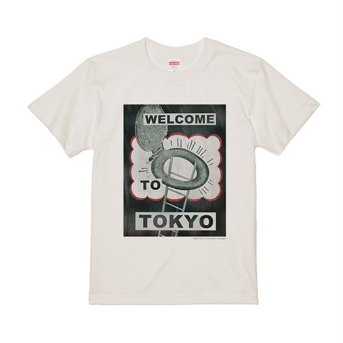 """WELCOME TO TOKYO"" T-SHIRT CREAM (5.6oz/REGULAR FIT)"