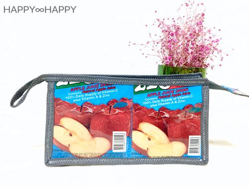 りんご柄ペンケース♡グレー色