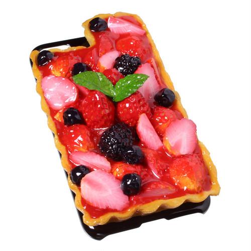 [8000]食品サンプル屋さんのスマホケース(iPhoneSE (第2世代):いちごタルト)【メール便不可】