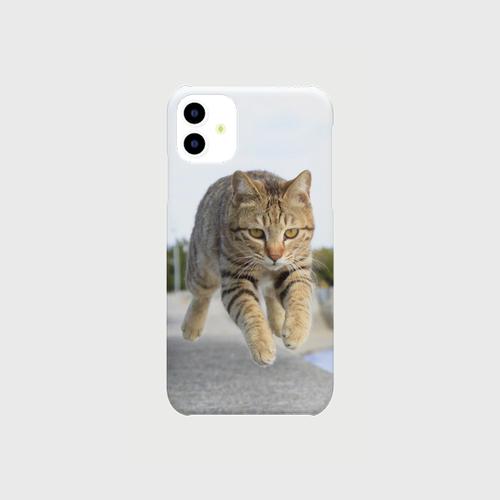 キジトラの飛び猫iphoneケース【送料無料】