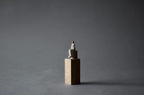 (068)wood figure-mini台付_037