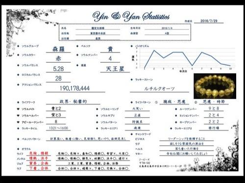 ※ 1ヶ月、2名様まで【Yin&Yan Statistics(陰陽統計鑑定)】