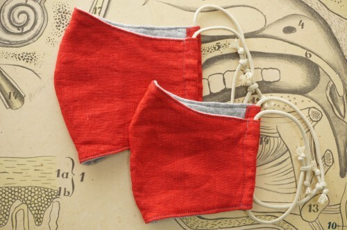 no.4) Linen Red Mask