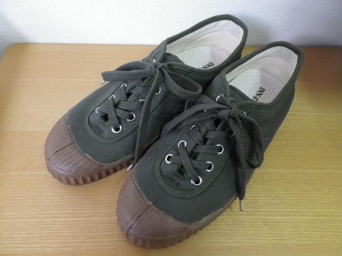 限定1足! CANVAS SHOES-NEO khaki/khaki(brown sole) INN-STANT 試作品  38 【税込・送料無料】