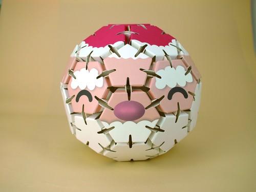 紙エコペーパークラフト サンタボール