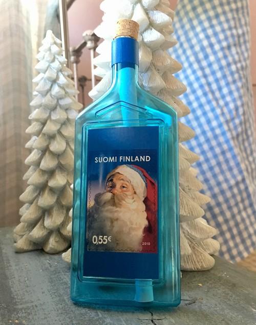 Christmas bottlepost (letter bottle)FINLAND