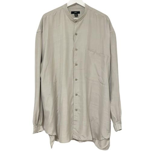 Dead Stock 90's phiz Silk Shirt 【 Band Collar KHAKI 】
