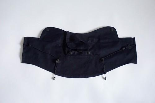 CORDURA COOLMAX fabric face guard(dark navy)