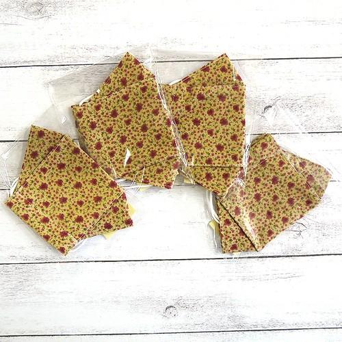 【咲く屋】折り返し型立体布マスク(小花)・大人用サイズ/マスク