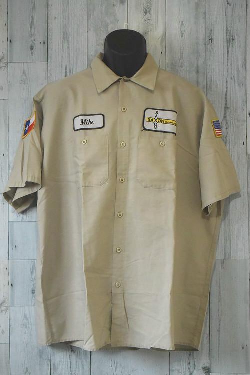 アメリカ輸入古着REDKAPワークシャツ 半袖☆アメカジ古着ファッション