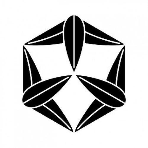 六角九枚笹 aiデータ