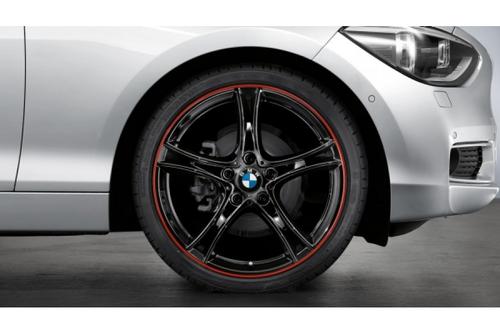 BMW純正 LM ホイール ダブル スポーク361 19インチ ブラック レッドリムストライプ 1シリーズ 2シリーズ F20 F21 F22 F23
