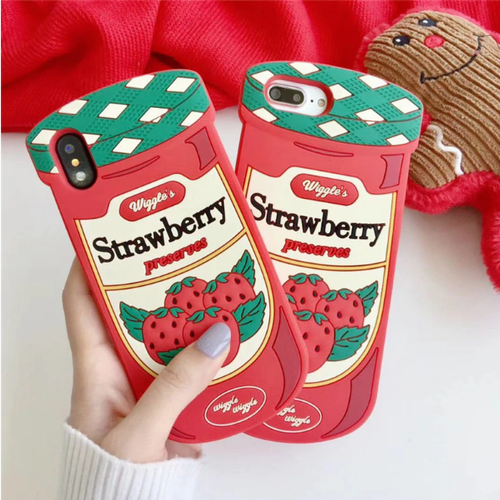 【オーダー商品】 Strawberry jam iphone galaxy case