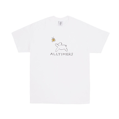 ALLTIMERS CLAIRE PUP TEE WHITE L