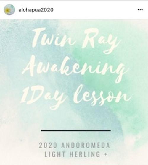【1DayLesson 】TwinRayスターシード覚醒♡120分&ソウルエリクシル