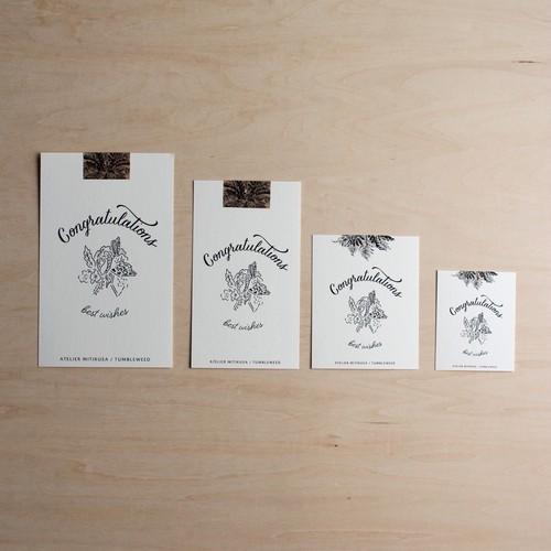 メッセージカード(各種お祝い・結婚・新築・退職など)