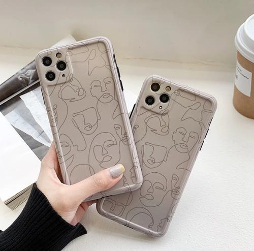 Line art painting iphone case