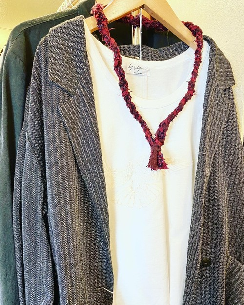 CHANEL Tweed Necklace By COMTE 【太】