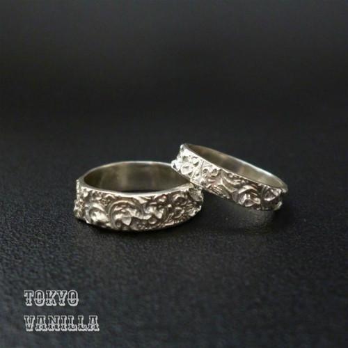 Marie set of rings ペアリング - 3mm/5mm
