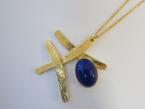 (IKUO)gold×blue ネックレス
