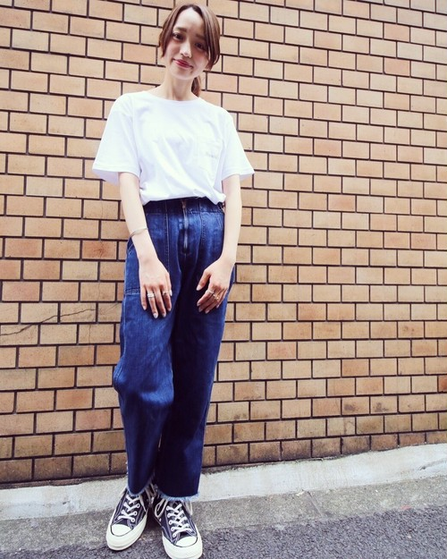 【NEW】LOGO POCKET&BACK PRINT T-SHIRTS(WHT)