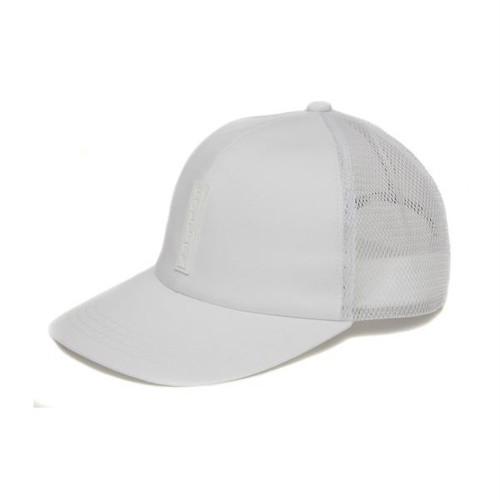 FULL BK SILICON TAG MESH CAP (WHITE)