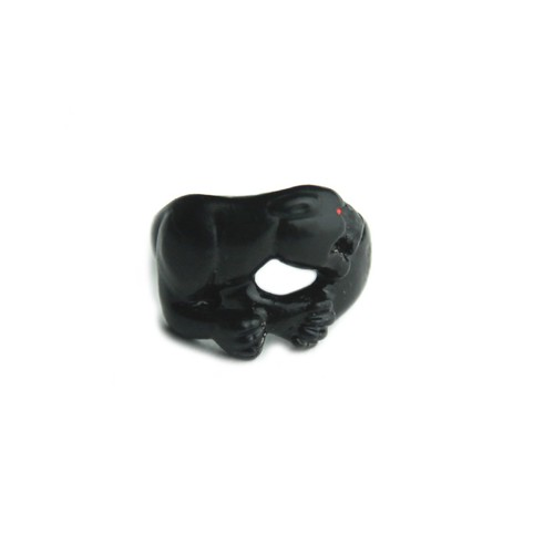 Rhomvas/ロンヴァス Panther with red eye ring(Matte Black)