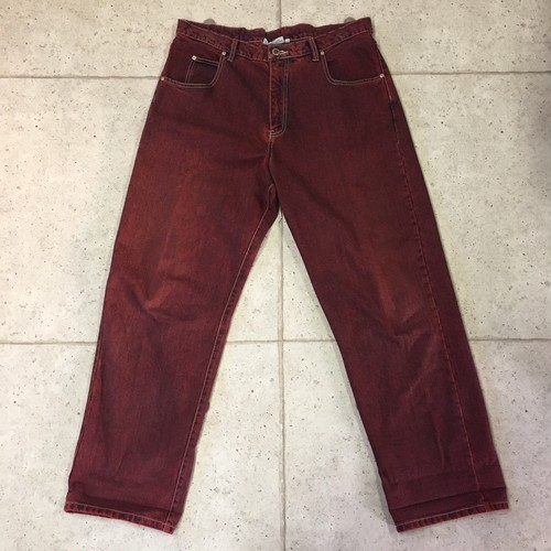 90s  WATER BABIES  バギーパンツ  RED DENIM size:38