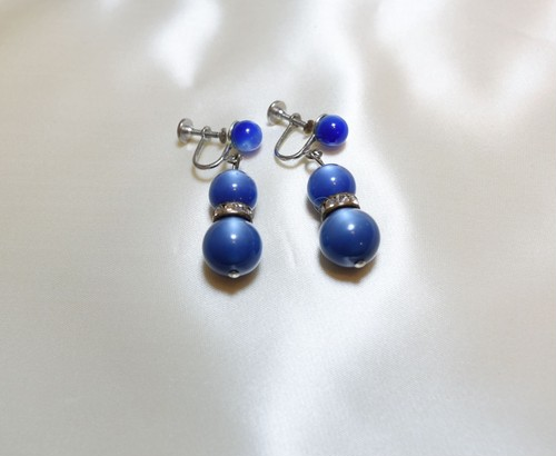 VINTAGE moonglow beads earring