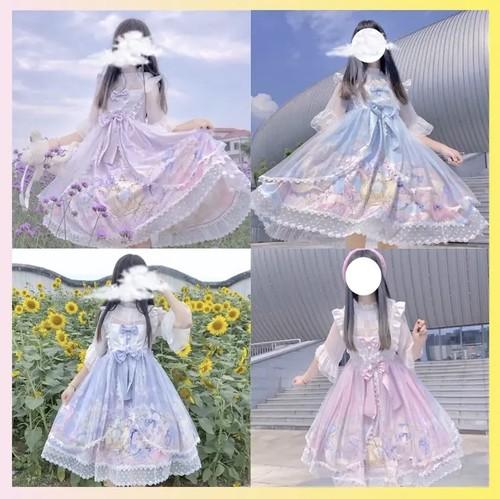 【即納】ロマンティック アニマル ロリィタ セット 4色