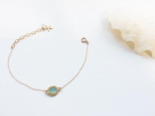 14kgf blue opal bracelet