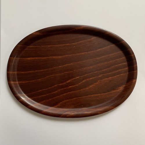 60's W.Germany Vintage Wood Tray _02(西ドイツヴィンテージ オーバルローズウッドトレー)