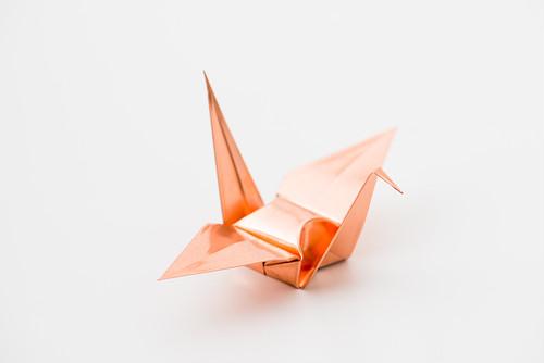 折鶴(銅板製)