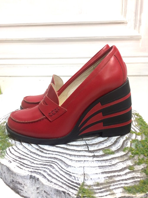ANREALAGE MOTION COIN LOAFER RED