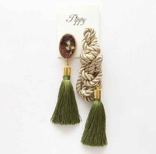 rope tassel pierce / earring