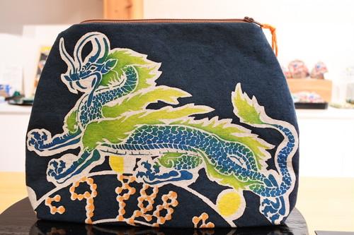 四神クラッチバッグ(青龍)/神の遣い・信仰の生き物