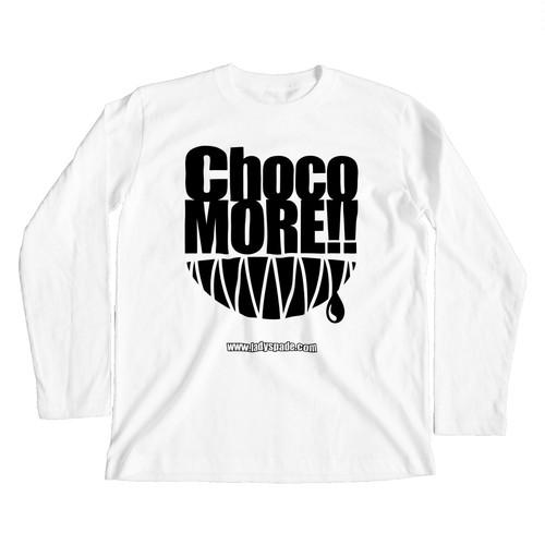 【 suzuri支店 】ChocoMORE!! (復刻版・ホワイトボディ向け) ロングスリーブTシャツ