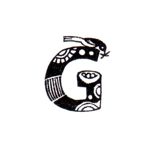 トリファベット G Bird Alphabet G
