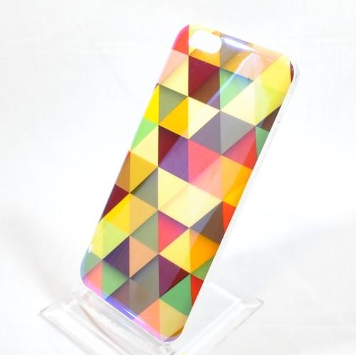 iPhone6 / 6s ソフトケース カラフルトライアングル