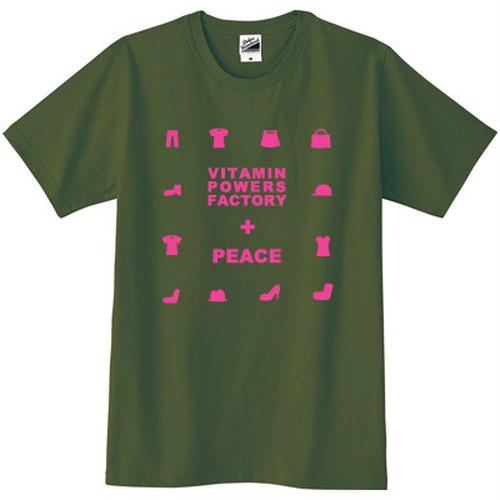 PEACE Tシャツ オリーブ