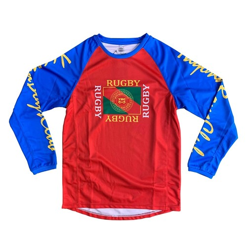 【YBC】Flaglogo Long Sleeve Tee Red×Blue