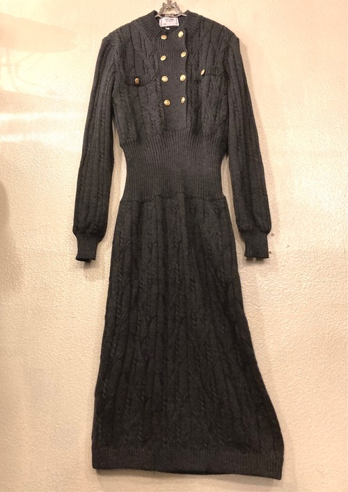 CELINE 1980's Knitted Dress -Very Rare!-
