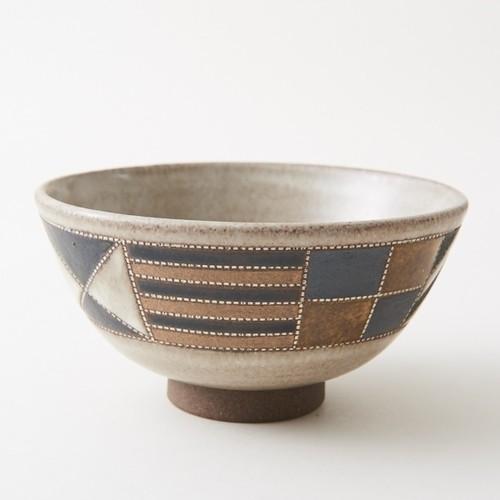【茶道具/茶碗】向山文也作 白境紋