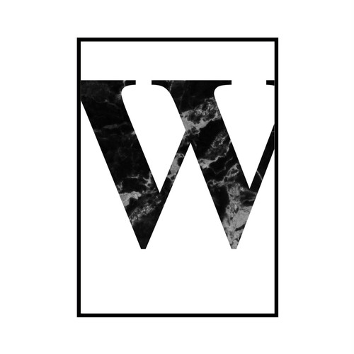 """W"" 黒大理石 - Black marble - ALPHAシリーズ [SD-000524] B4サイズ フレームセット"